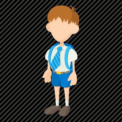 boy, cartoon, child, cute, kid, school, schoolboy icon