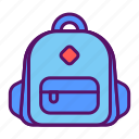 student, backpack, learning, school, briefcase, education, bag
