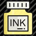 inkpot, ink, pen, write, draw, ink jar