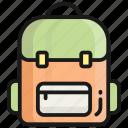 backpack, school, bag, student, education, school bag