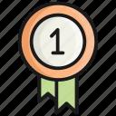 badge, no.1, award, medal, prize, winner, champion