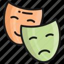 mask, face, carnival, feeling, smile, emoji, emotion