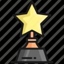 trophy, award, winnet, prize, achievement, star, success