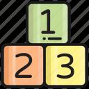 alphabet, block, numeric, letter, kids, baby