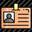 identification, id, identity, card, employee, student