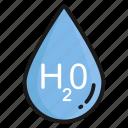 h2o, drop, water, rain, liquid, droplet, formula