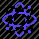 atom, chemical, neutron, proton, science icon