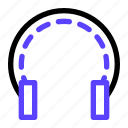 earphone, headset, library, music, reading icon