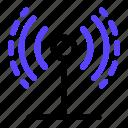 area, hotspot, signal, wave, wifi icon