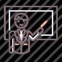 male, teacher, whiteboard