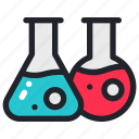 chemistry, education, flask, lab, laboratory, school, science icon
