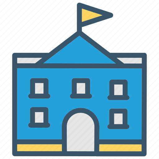 building, college, education, house, school icon