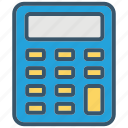 accounting, calculator, education, learn, math, mathematic, school icon
