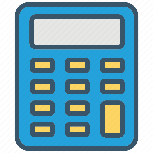 accounting, calculator, education, learn, math, mathematic, school icon
