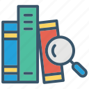 book, catalog, education, learning, school, search icon