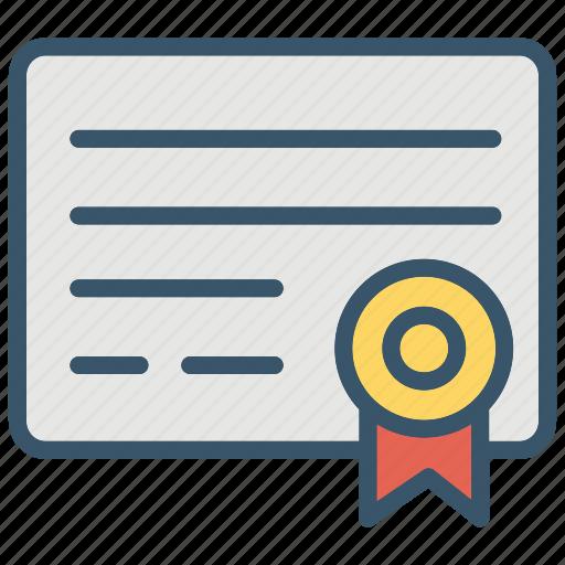 achievement, award, certificate, charter, education, school, winner icon