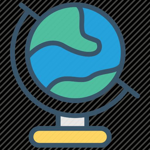 earth, education, geography, global, globe, learning, school icon