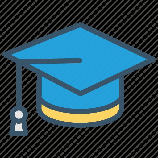 education, graduation, hat, learning, school, student, university icon