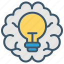 brain, bulb, education, idea, ideas, learning, school icon