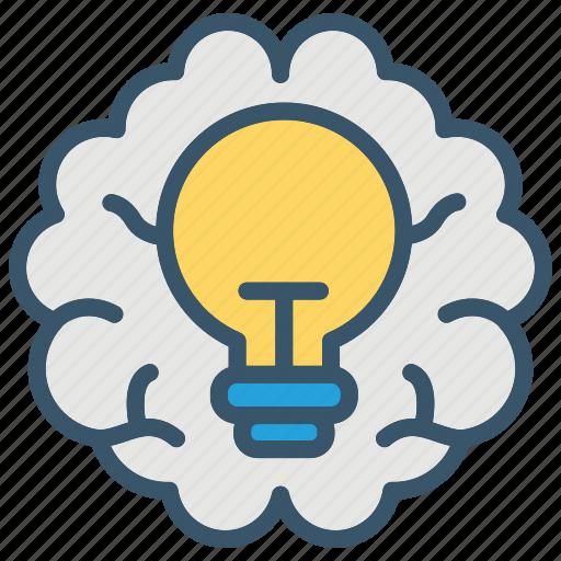 brain, bulb, education, idea, ideas, learning, school icon