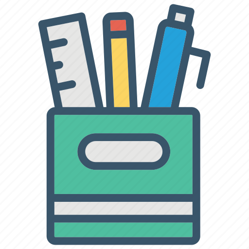 education, office, pen, pencil, ruller, school, stationery icon