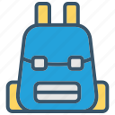 backpack, bag, education, school, schoolbag icon