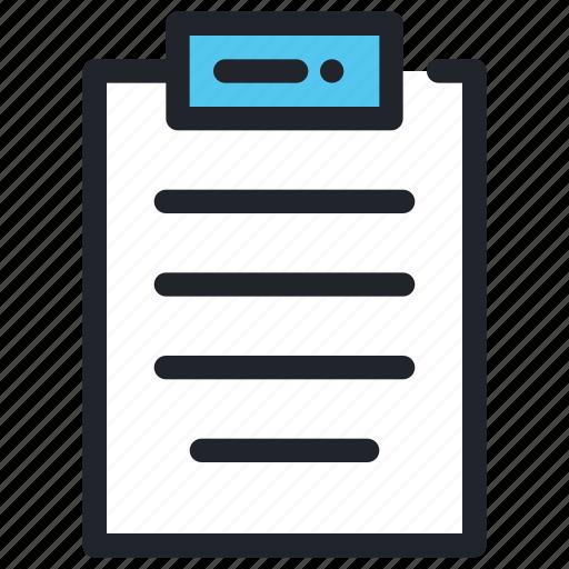 document, file, page, paper, report, school, write icon
