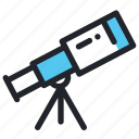 asronomy, education, school, science, space, telescope icon