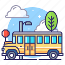 bus, school, transportation icon