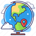 earth, globe, map