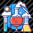 chemist, tubes, practicum, lab icon