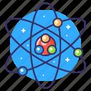 knowledge, neutron, physic icon
