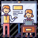 class, presentation, public, speaking icon