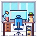 desk, learning, study, table icon