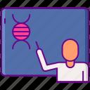 biology, science, teacher icon