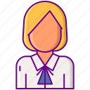 female, school, student, uniform icon