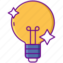 bulb, idea, innovation icon