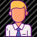 male, school, student, uniform icon