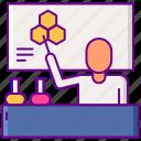 laboratory, male, science, teacher icon