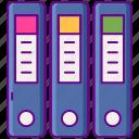 binder, files, ring icon