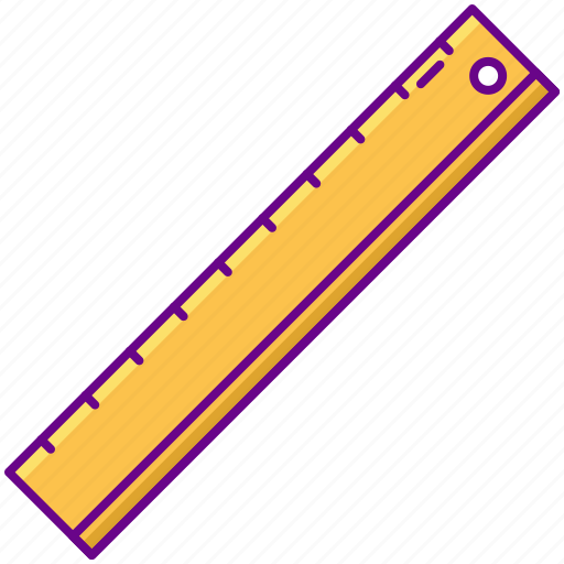 measure, ruler, stationery icon