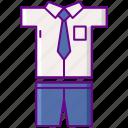 school, student, uniform icon