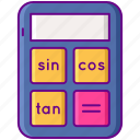 calculator, math, scientific icon