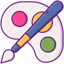 color, paint, water icon