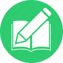 book, education, learn, pen, school, studey icon