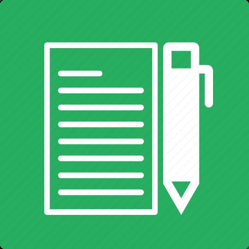 book, education, learn, pen, school, study icon