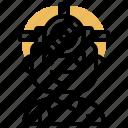 bright, explore, headlamp, light, nighttime icon
