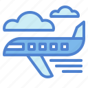 airplane, flight, transport, travel icon