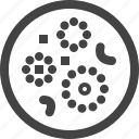 bacteria, cell, circle, infection, microbe, virus, zoom icon
