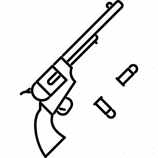 bandit, bullet, crime, revolver, west, wild icon